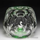 Perthshire Paperweights 1973 Swan in the Pond hollow faceted paperweight