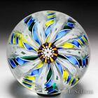 John Deacons 2002 three colored crown glass paperweight