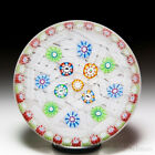 Perthshire Paperweights 1989 scattered millefiori and picture canes paperweight