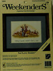 Weekenders THE FLOPSY BUNNIES Beatrix Potter Counted Cross Stitch Kit Birth JCA