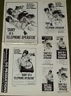 DIARY OF A TELEPHONE OPERATOR rare sheet of ad mats Cardinale Spaak Law