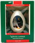 Hallmark 1989 WINTER SURPRISE #1 in Series, Penguins Egg Christmas Ornament