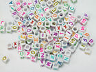 6mm Colorful Assorted Alphabet Letter Beads Free Shipping