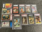 ⚾️🔥Mickey Mantle 12 card collection 1951 Bowman rookie 1956 Topps PSA SGC BVG