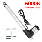Dc 12v Linear Actuator 1320lbs W Remote Controller Electric Motor 6000n Lift Ig