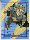 Marvel's Greatest Heroes Avengers Sketch Card - NORRIEL CELARIO - QUASAR