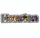 Houston Texas Large Iconic Montage Iron On Embroidered Patch