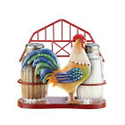 Barn Rooster Salt and Pepper Shakers Set of 2