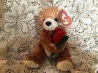 Ty Beanie Baby Alway  Bear with a red rose