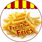 French Fries Decal Choose Your Size Concession Food Truck Circle Sticker