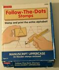 Lakeshore FOLLOW THE DOTS Rubber Stamps Upper Case alphabet learning