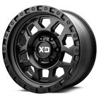 5 17 Inch 17x8 XD Series XD132 RG2 5x11435x45 +25 Satin Black Wheels Rims