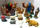 Vintage 1960s Large NATIVITY SET Holland Mold Ceramic 18 Pcs CAMELS Excellent