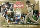 2016 TOPPS ARCHIVES BASEBALL 65th ANNIVERSARY EDITION BOX ( 16 CARDS 1 AUTO )