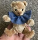 "R. JOHN WRIGHT - Miniature 3.75"" Fully Jtd Rare Bitty TEDDY BEAR Tan Coa"