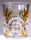 EAPG West Virginia Glass No 213 Amber Stained Tumbler