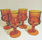 Vintage, Indiana Glass, Amber Glass, Kings Crown, Thumbprint, Wine Goblet