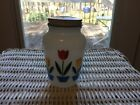 Vintage Anchor Hocking White Fire King Tulip Shaker Pepper Milk Glass
