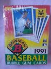 1991 bowman baseball box bubble gum cards factory sealed 36 packs