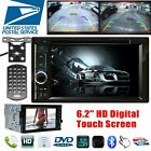 6.2inch 2 DIN HD Car Stereo MP5 Player Digital TOUCH Screen & 4LED Reversing Cam