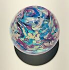 Handmade Dichroic Glass Paperweight by Janet Wolery PASTEL SPARKLES 3 1 2