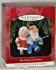 Hallmark Keepsake Ornaments The Clauses on Vacation 1st Handcrafted Dated 1997