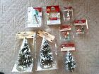 Lemax Carole Towne Christmas Village Lot NIP Figures Trees Lights LOT