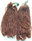 Cocoa Brown Vintage Glass Seed Beads 20 Mini Hanks Lot CLOSEOUT INVENTORY SALE