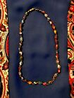 Beautiful Vintage Murano Glass Beaded Necklace 18 Long Vintage Jewelry