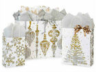 MERCURY GLASS Design Print Christmas Gift Bag ONLY Choose Size  Pack Amount
