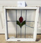 Old Vtg Art Nouveau Deco Stained Glass Window Solid Wood Antique 8 LOT for EACH