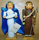 Nativity Manger Wooden Approx 8 Tall Nutcracker Set Mary Joseph Mint LE