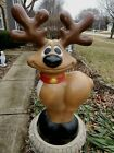 Vintage General Foam Blow Mold Smiling Reindeer Christmas Yard Decor 27