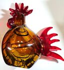 ART GLASS PAPERWEIGHT COLORFUL MURANO TYPE ROOSTER
