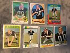 (7) JIM OTTO - Different Card Lot - 1969 1970 1971 1972 1973 1974 1975 - RAIDERS
