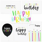 48 Pack Happy Birthday Single Side Note Cards w Envelope Postcard Style Bulk Box