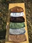 BEANIE KUFI,KUFFIS, all 5,Cotton Muslim Prayer hats..or CHOOSE OWN COLORS