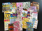 Lot Scrapbook Stickers Kids GIRL Hello Kitty Food Animals American Girl Princess