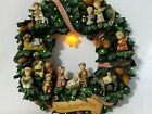 Studio Hummel Glory to the Newborn King Xmas Wreath w 12 Nativity Figurines