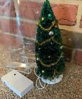 "Lemax Multicolor Lighted  9""TREE Christmas Village New Batteries Not Included"