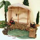 FONTANINI ITALY 5 2PC RETIRED FISH MARKET NATIVITY VILLAGE BUILDING 55514 GLC