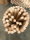 Premium 1.5x1.5 Curly Hard Maple Wood Turning Square Blanks Non-s4s