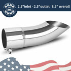 Stainless Steel Turn Down Exhaust Tip 2.534 Inletoutlet Angle Cut Tailpipe
