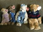 lot of 4 Ty  Beanie Baby Collectibles  Malcolm, Cassie, Weewillie, Tiny Tim