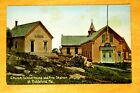Fire Station School House Union Church Biddeford Pool Maine ME c1910 Postcard