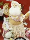 Hawaii State Santa Claus Unpainted Ceramic Bisque Ready to Paint