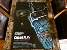 Childs Play Signed 1 Sheet Movie Poster Ed Gale Brad Dourif Edan Gross Chucky