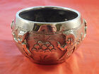 ANTIQUE STERLING SILVER 900 EGYTIAN MOTIFF BOWL HALLMARKED GODS