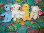TY Beanie Babies - Easter  Set of 4 (Eggs, Lullaby, Ducking Baaabsy)  NOTE  RARE