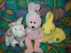 TY Beanie Babies - Easter  Set of 3 (Nibble, Bonnet & Buttercream) -  NOTE  RARE
